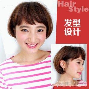 九种童真气质的发型 俏丽可爱童花头