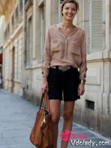 欧美模特街拍时尚搭配 穿出青春靓丽感