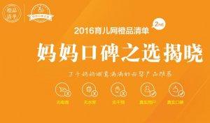 安儿乐纸尿裤实力上榜2016橙品清单