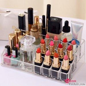 有了这个收纳盒,女人再多的化妆品都不在怕的