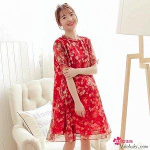 老婆怀孕后特别怕热,出门就爱穿这样的印花连衣裙,好看还不太贵