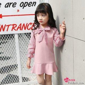 甜美学院风的女童连衣裙,释放宝宝的活力,彰显个性童年
