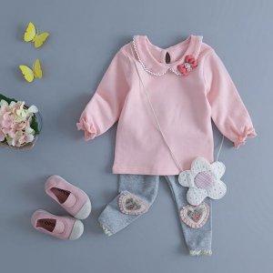 春季女童外出服套装,柔软的面料宝宝穿着舒心妈妈更放心