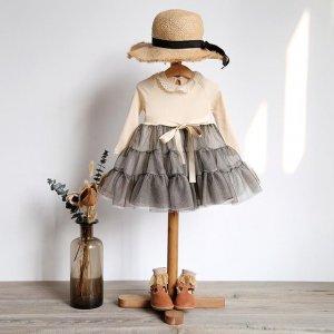 春天穿上美腻连衣裙最衬小公主的气质,优雅可爱,萌化妈妈的心