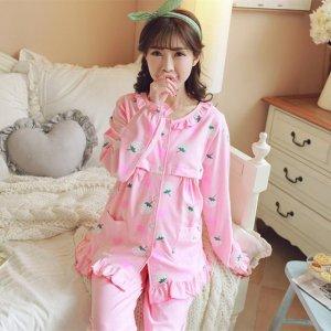 春季孕妇睡衣,亲肤柔软穿着时尚,限时限量拍下即送同款宝宝哈衣