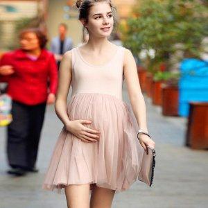 8款适合孕妈春天穿的连衣裙,舒适时髦有韵味