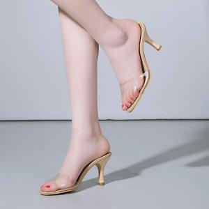 25-45岁透明水晶拖鞋,时髦又百搭,将迷人的玉足一览无余