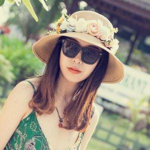 可随意凹造型的遮阳草帽,夏季出游的防晒好帮手
