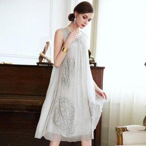 真丝连衣裙,流住青春岁月,尽显成熟优雅女人味
