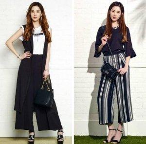 五种阔腿裤搭配方法,教你穿出时髦美感