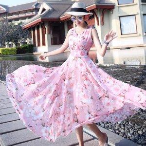 同事们都在追捧的印花连衣裙,我忍不住要来了链接,穿上太美了