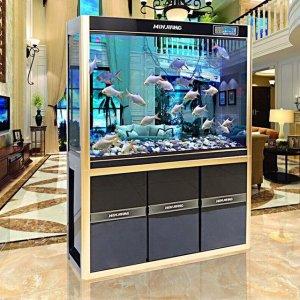 金鱼缸过时了,有钱人客厅摆这7款生态鱼缸,自带净水功能超大气