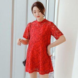 婆婆对我真好,给我买了第5件红色孕妇裙,润六月穿寓意平安健康