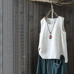 夏日棉麻新潮穿搭,复古背心和休闲短裤的组合,清凉舒适又透气