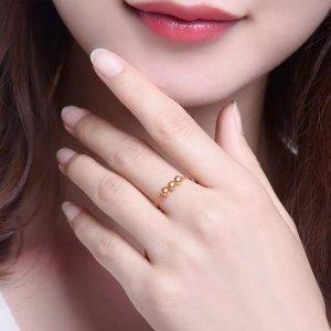 黄金戒指已经逐渐成为潮流趋势,显气质又招财,让人不得不爱