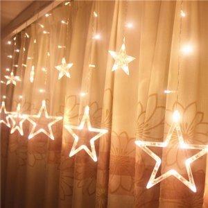 梦幻的LED小灯串,放在卧室和客厅阳台,浪漫有情调