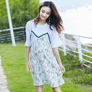 浪漫迷人的仲夏里,美丽动人的连衣裙,演绎孕妈气质风情