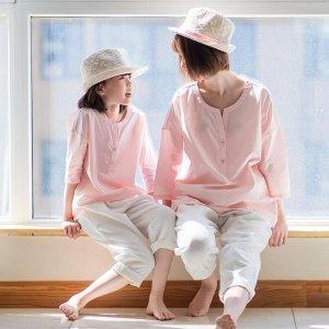 暑假远离电子产品,和女儿穿上亲子装旅行,姐妹花羡煞路人