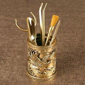 茶友疯狂追捧的纯铜六君子,复古高雅的茶具配件――