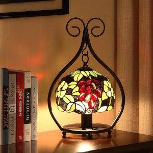 今年火的一塌糊涂的复古台灯,开灯后超级美