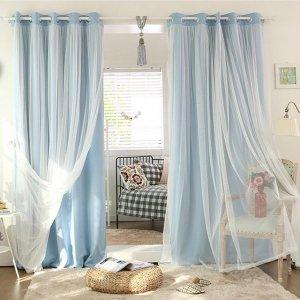 老式窗帘已淘汰,聪明女人都换上这样的双层窗帘,让家温馨又浪漫