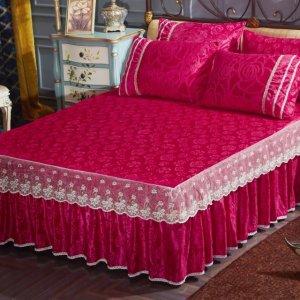 老式床单过时了,17年结婚都流行使用床裙,温馨又浪漫