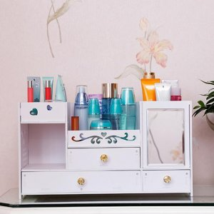 """梳妆台乱糟糟?你需要给化妆品一个""""家"""",实用又个性的化妆盒"""