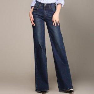 高腰牛仔裤,轻松收起你的小肚腩