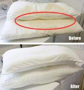 枕头发黄变脏别急着扔!只要几个简单的小窍门,枕头立马干净如新