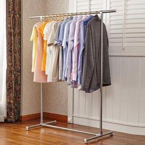 阳台衣架不够晾?现在都流行用这样的伸缩折叠晾衣架,实用不占地