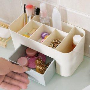 自从买了这些化妆品收纳盒,梳妆桌再也没有乱糟糟,实用很方便