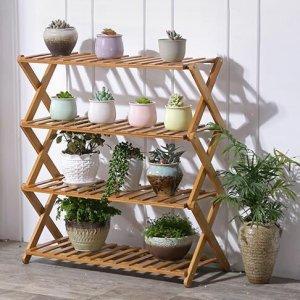 阳台空间太小,聪明的养花人都使用这样的新型花架,实用美观
