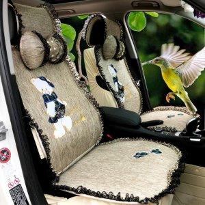 别再用传统的汽车坐垫,女神都在用可爱呆萌栩栩如生浪漫可爱坐垫