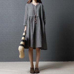 文艺风的裙装不一定要小姑娘才穿的着,28+的女人穿着更有魅力