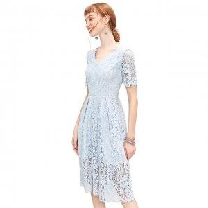 新型淡色系蕾丝连衣裙,女神你懂得
