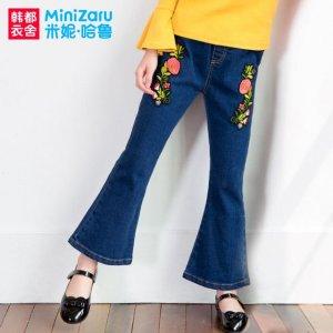 6款好看的女童喇叭裤,带你追赶喇叭裤的复古时尚,尤其第三款
