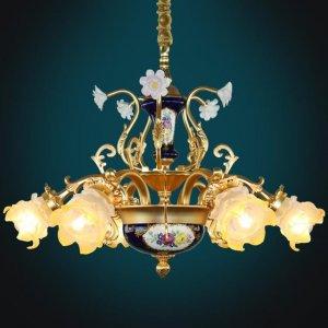 法式全铜吊灯展现复古奢华品味