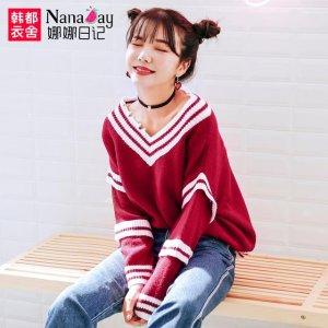 要想做青春美少女,一定少不了这样的韩范毛衣