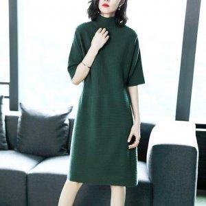 35+的优雅女性秋冬首选,一条中长裙帮你遮住小肚腩和拜拜肉