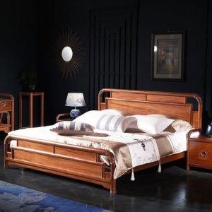中式实木双人床,在床上感受中式复古的气息