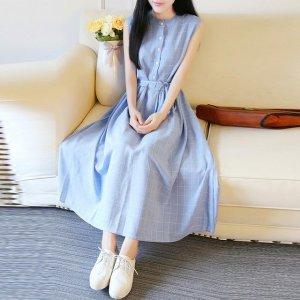 大码女士棉麻连衣裙,显瘦显气质,文艺范十足