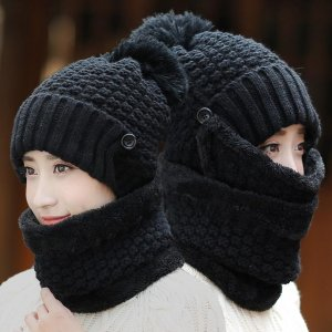 邻居大妈瞪大了眼睛,第一次看见这样的帽子,连围巾口罩都不用买
