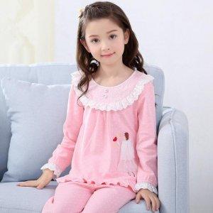 送给超爱粉色的小公举们,一套粉色梦幻又可爱的纯棉睡衣