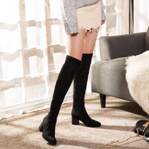 你还在穿笨重的雪地靴?今年都穿这样的长筒靴,修腿型又保暖