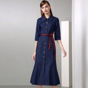 秋冬连衣裙,搭配高跟鞋更显时尚魅力