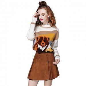 俏皮可爱的卫衣+半身裙套装,青春时髦,个性搭配忒洋气