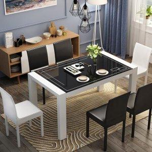 圆形餐桌大气,长方形餐桌清新