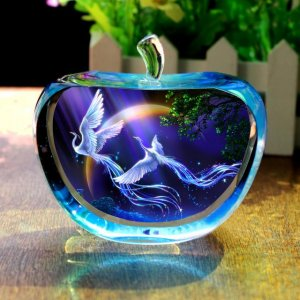 创意水晶摆件,浪漫温馨,让家居生活更有艺术感