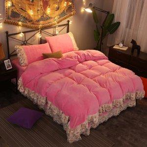 珊瑚绒四件套,和你家大床组成完美CP可好?
