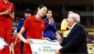 朱婷收获土耳其杯MVP 第九个最有价值球员荣誉
